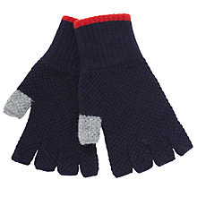 Buy Barbour Canna Lambswool Fingerless Gloves, Dark Grey Online at johnlewis.com