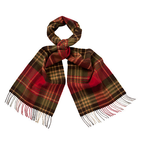 Buy Barbour Country Check Merino Wool Scarf Online at johnlewis.com