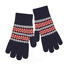 Buy Barbour Dunkeld Fair Isle Lambswool Gloves Online at johnlewis.com