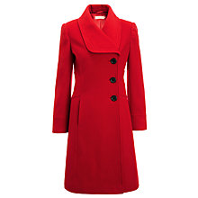 Buy John Lewis Stitch Detail Coat, Red Online at johnlewis.com