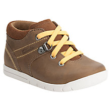 Buy Clarks Crazy Crew Shoes, Brown Online at johnlewis.com