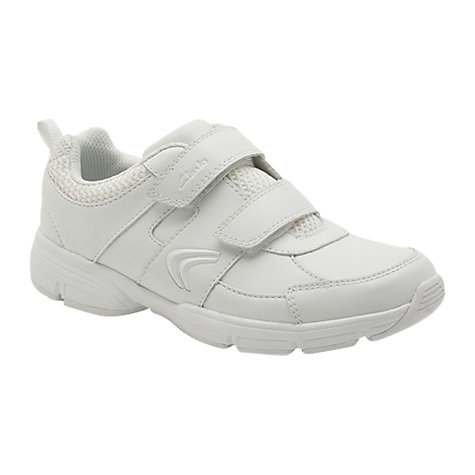 Buy Clarks Fluency Cross Trainers, White Online at johnlewis.com