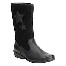 Buy Clarks Daisy Elf Boots, Black Online at johnlewis.com