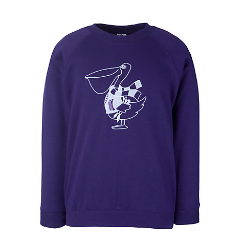 Buy The Perse Pelican Nursery Sweatshirt, Purple Online at johnlewis.com