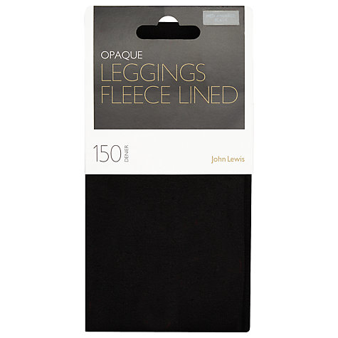 Buy John Lewis Polar Fleece Leggings, Black Online at johnlewis.com