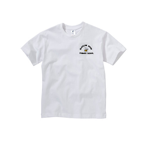 Buy Blacklow Brow Primary School Unisex PE T-shirt, White Online at johnlewis.com