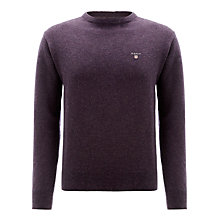Buy Gant Lambswool Solid Crew Neck Jumper Online at johnlewis.com