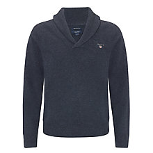 Buy Gant Lambswool Shawl Neck Jumper Online at johnlewis.com