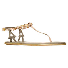 Buy KG by Kurt Geiger Molly Leather and Chain Toe Post Sandals,  Pale Pink Online at johnlewis.com