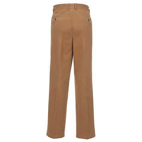 Buy John Lewis Wrinkle Free Cotton Chinos, Camel Online at johnlewis.com