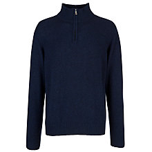 Buy John Lewis Made in Italy Merino Cashmere Zip Jumper Online at johnlewis.com