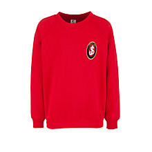 Buy St Joseph's College Prep School Sweatshirt, Red Online at johnlewis.com