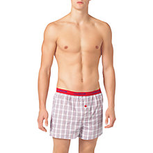 Buy Calvin Klein Underwear Slim Fit Brian Check Boxers, White Online at johnlewis.com