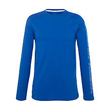 Buy Calvin Klein Stretch Cotton Long Sleeve T-Shirt, Blue Online at johnlewis.com
