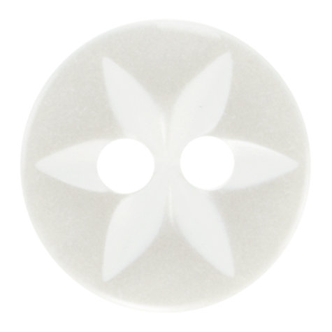Buy John Lewis Star Fish Eye Buttons, Pack of 8, White Online at johnlewis.com