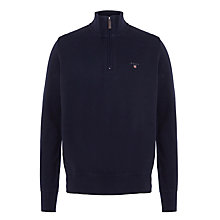 Buy Gant Sacker Rib Zip Neck Jumper Online at johnlewis.com