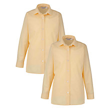 Buy Manchester High School for Girls Reception and Years 1-6 Blouse, Pack of 2, Yellow Online at johnlewis.com