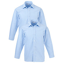 Buy Thomas's Boys Long Sleeved Shirt, Pack of 2, Blue Online at johnlewis.com