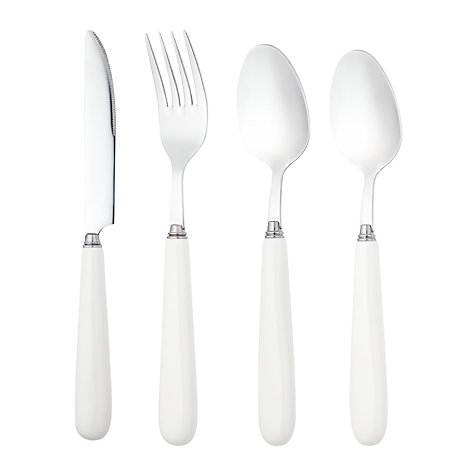 Buy John Lewis Ceramic Cutlery, Ivory  Online at johnlewis.com
