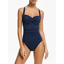 Buy Seafolly Goddess Swimsuit, Indigo Online at johnlewis.com