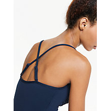 Buy Seafolly Halterneck Swimsuit, Indigo Online at johnlewis.com