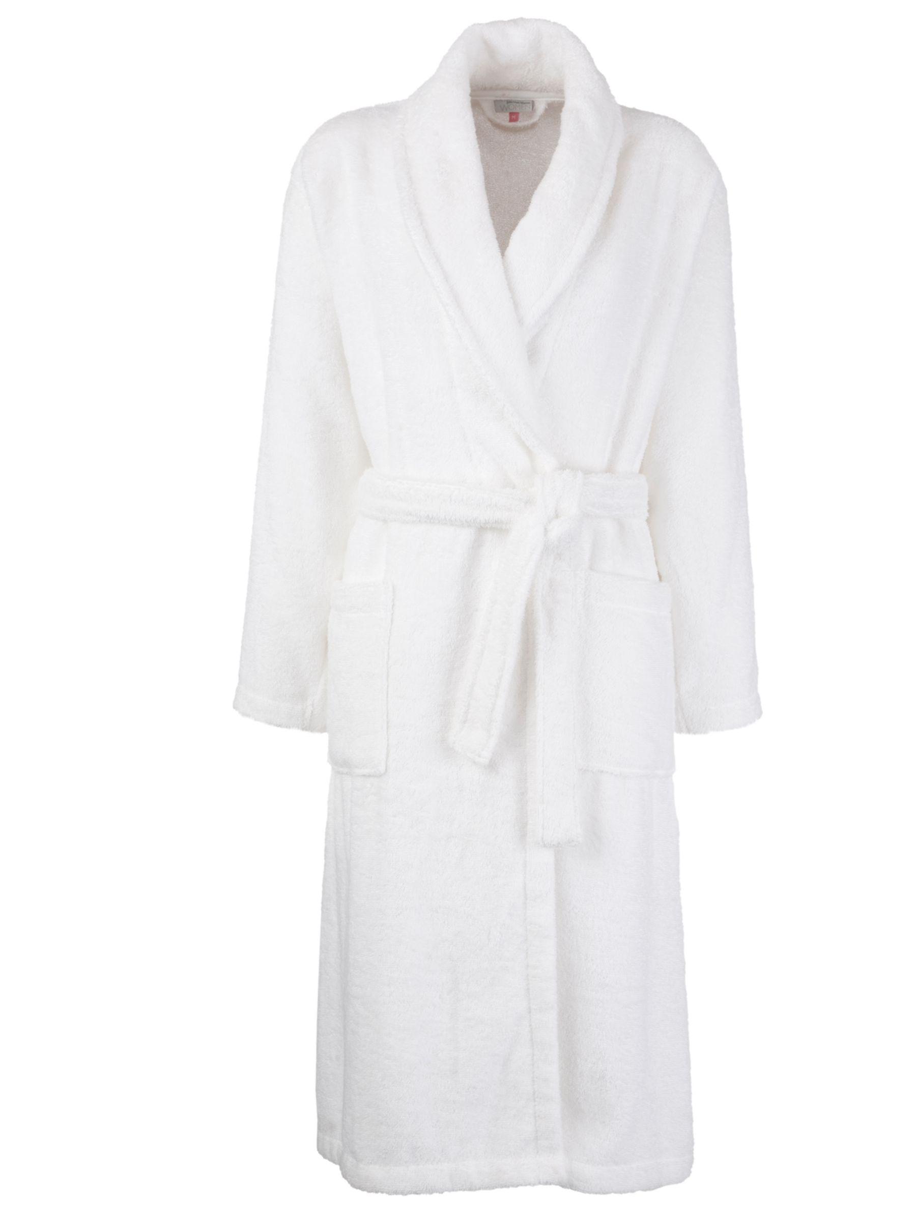 John Lewis Towelling Robe, White