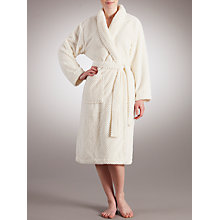 Buy John Lewis Fleece Waffle Robe, Ivory Online at johnlewis.com