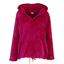 Buy John Lewis Fleece Hoody Robe, Raspberry Online at johnlewis.com