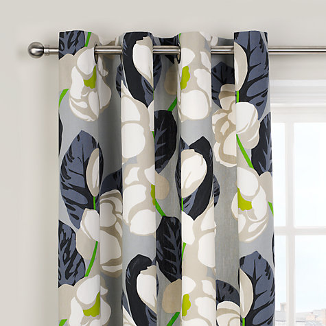 Buy Designers Guild Flamingo Park Lined Eyelet Curtains, Grey Online at johnlewis.com