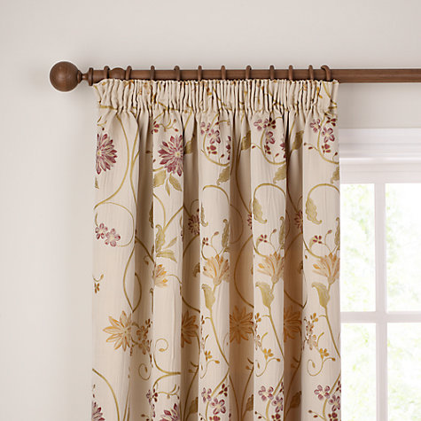 Buy John Lewis Emma Lined Pencil Pleat Curtains, Claret Online at johnlewis.com