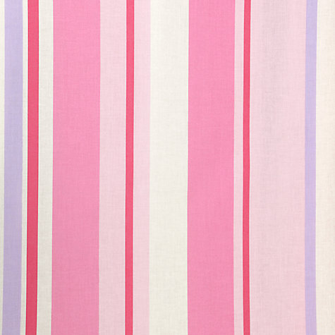 Buy John Lewis Finlay Stripe Pencil Pleat Blackout Lined Curtains, Pink Online at johnlewis.com