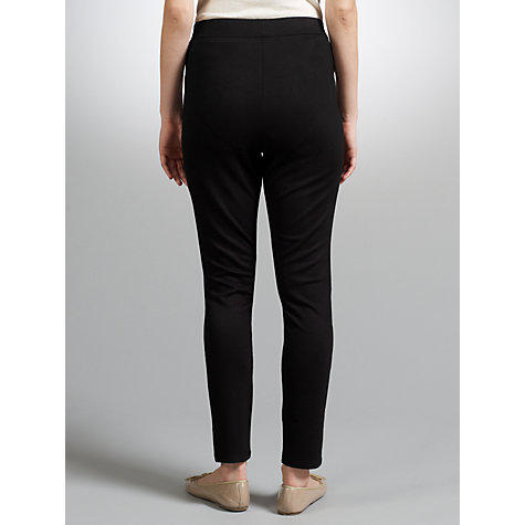Buy John Lewis Zip Treggings, Black Online at johnlewis.com
