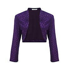 Buy Gina Bacconi Spot Jacquard Bolero, Purple Online at johnlewis.com
