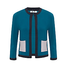 Buy COLLECTION by John Lewis Edge-To-Edge Contrast Cardigan, Moroccan Blue Online at johnlewis.com