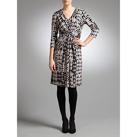 Buy COLLECTION by John Lewis Geometric Print Jersey Dress, Black/Mushroom Online at johnlewis.com