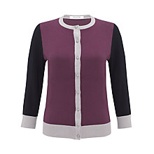 Buy COLLECTION by John Lewis Colour Block Cardigan, Prune/Mushroom Online at johnlewis.com
