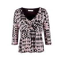 Buy COLLECTION by John Lewis Geometric Print Top, Black/Mushroom Online at johnlewis.com