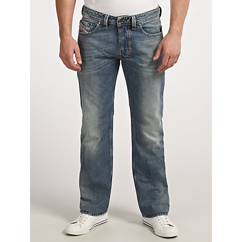 Buy Diesel Larkee 800Z Straight Jeans, Blue Online at johnlewis.com