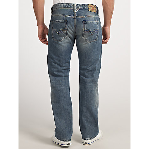 Buy Diesel Larkee 800Z Straight Leg Jeans, Blue Online at johnlewis.com