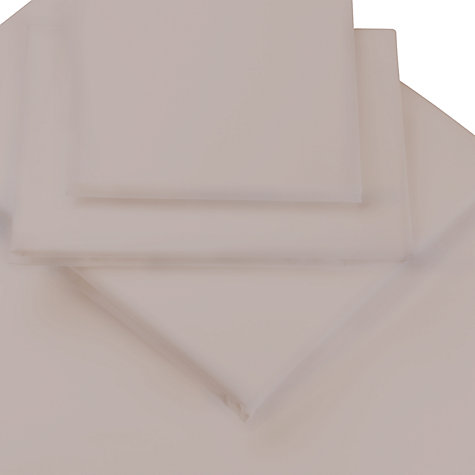 Buy John Lewis 400 Thread Count Cotton Sateen Flat Sheets Online at johnlewis.com