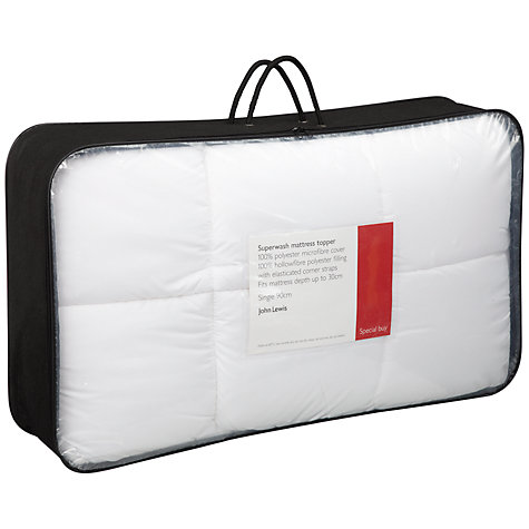 Buy John Lewis Superwash Mattress Toppers Online at johnlewis.com