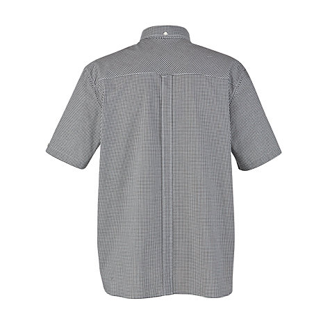 Buy Fred Perry Gingham Short Sleeve Shirt, Black Online at johnlewis.com
