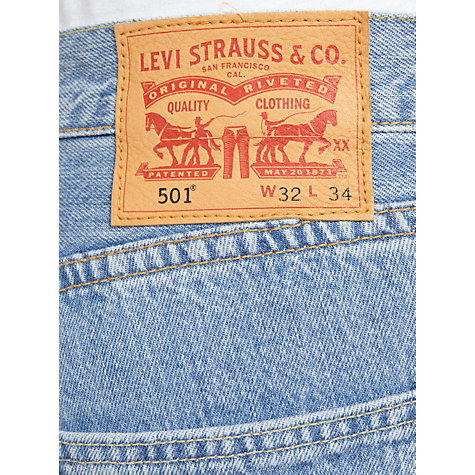 Buy Levi's 501 Original Straight Jeans, Light Broken Online at johnlewis.com