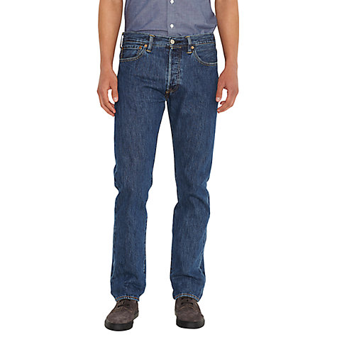 Buy Levi's 501 Original Straight Jeans, Stonewash Online at johnlewis.com