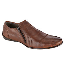 Buy Dune Bravo DM Side Zip Leather Shoes, Tan Online at johnlewis.com