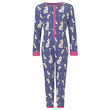 Buy John Lewis Girl Cat Onesie, Purple Online at johnlewis.com