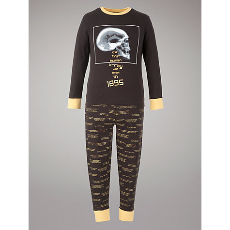 Buy John Lewis Science Museum Collection X-Ray Pyjamas, Black Online at johnlewis.com