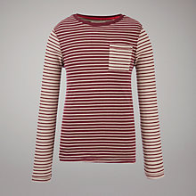 Buy Worn & Torn Breton Long Sleeved Top Online at johnlewis.com