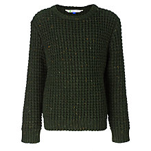 Buy John Lewis Boy Moss Stitch Jumper, Green Online at johnlewis.com