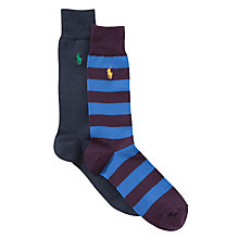 Buy Polo Ralph Lauren Cotton Rugby Socks, Pack of 2 Online at johnlewis.com